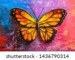 Oil Painting Of Monarch...