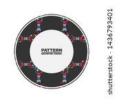 vector pattern. abstract... | Shutterstock .eps vector #1436793401