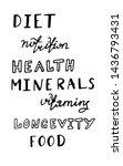 handwritten words on diet.... | Shutterstock .eps vector #1436793431
