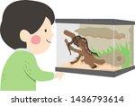 illustration of a kid boy... | Shutterstock .eps vector #1436793614