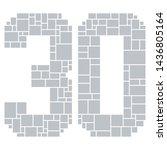 30th birthday   anniversary... | Shutterstock .eps vector #1436805164