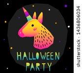 abstract happy halloween...   Shutterstock .eps vector #1436806034