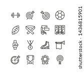 sports equipment line icon set. ... | Shutterstock .eps vector #1436815901