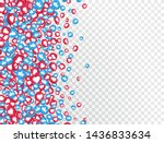 3d like and thumbs up icons for ... | Shutterstock .eps vector #1436833634