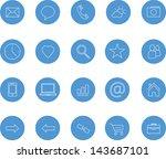 clean icons set blue bitmap copy