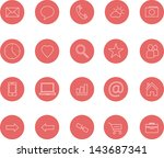 clean icons set red bitmap copy