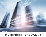 highway heading to the city in... | Shutterstock . vector #143692375