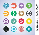 color flat design arrow icon... | Shutterstock .eps vector #143695489