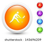 hockey icons on round button... | Shutterstock .eps vector #143696209