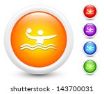water polo icons on round... | Shutterstock .eps vector #143700031
