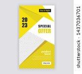 social media banner template....   Shutterstock .eps vector #1437036701