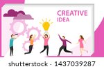 creative idea. people are...   Shutterstock .eps vector #1437039287