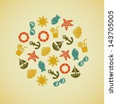 summer retro icon   Shutterstock .eps vector #143705005