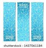 three vertical banners   the... | Shutterstock .eps vector #1437061184