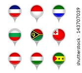 set of map flag icon  vector | Shutterstock .eps vector #143707039