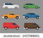 car icon vector logo template.... | Shutterstock .eps vector #1437088001