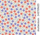 seamless flowers  rasterized... | Shutterstock . vector #143709655