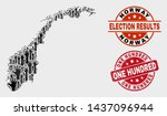 election norway map and seal... | Shutterstock .eps vector #1437096944