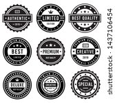 a vintage badge design set. | Shutterstock .eps vector #1437106454