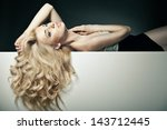 beautiful long hair on an... | Shutterstock . vector #143712445