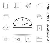 dash gauge speed outline icon....