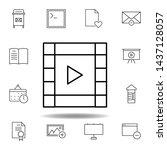 film video strip outline icon....