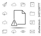 alert document outline icon....