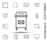 box email postbox outline icon. ...