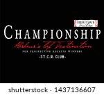 slogan print for t shirt... | Shutterstock .eps vector #1437136607