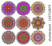 circle lace ornament  round... | Shutterstock . vector #143713879