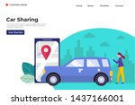 online car sharing  mobile city ... | Shutterstock .eps vector #1437166001