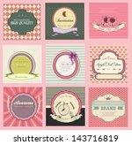 set of labels  vintage stile | Shutterstock .eps vector #143716819