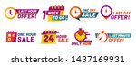 sale countdown badges. last... | Shutterstock .eps vector #1437169931