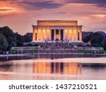 Lincoln Memorial At Dusk In...
