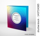 vector card template with... | Shutterstock .eps vector #143724385