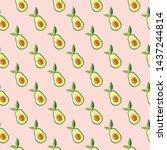 avocado seamless pattern for...   Shutterstock .eps vector #1437244814