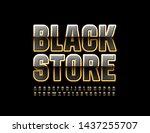 vector chic logo black store....   Shutterstock .eps vector #1437255707