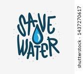 save water liquid drip drop... | Shutterstock .eps vector #1437270617