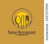 restaurant  resto  food court ...   Shutterstock .eps vector #1437274934