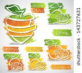 vector illustration of colorful ... | Shutterstock .eps vector #143727631