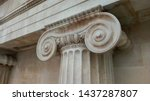 ionic capital  aka chapiter  of ... | Shutterstock . vector #1437287807
