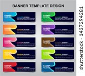 set of modern banners... | Shutterstock .eps vector #1437294281