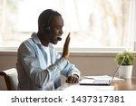 Black Guy Wear Headset Start...