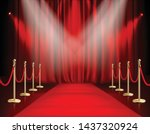 awards show red background with ... | Shutterstock .eps vector #1437320924