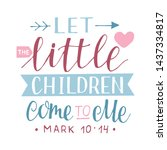 hand lettering with bible verse ... | Shutterstock .eps vector #1437334817