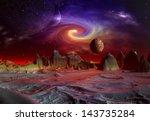 alien planet   3d rendered... | Shutterstock . vector #143735284