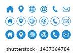 web icon set. website set icon... | Shutterstock .eps vector #1437364784