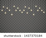 realistic horizontal  garlands...   Shutterstock .eps vector #1437370184