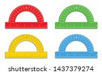 set of realistic colorful...   Shutterstock .eps vector #1437379274