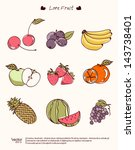 vector illustration fruit of... | Shutterstock .eps vector #143738401